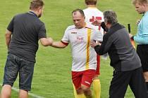 Jediný gól Strakonic vsítil Petr Kratochvíl.