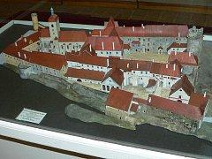 Model strakonického hradu v muzeu.