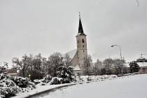 Zasněžené Strakonice 3. února.