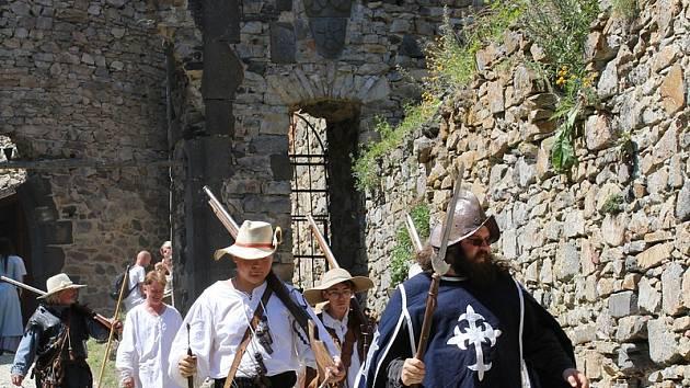 Středověká akce na Helfenburku