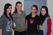Tereza Uhrová, Martina Hollerová, Nicola Roučková a Karolína Velková ze Základní školy Povážská ve Strakonicích