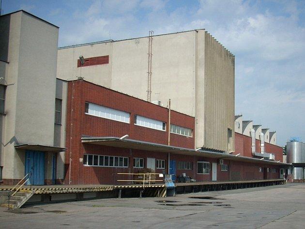 Výrobní hala strakonické mlékárny.