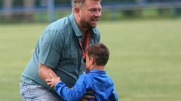 Trenér Luděk Cimrhanzl byl po premiéře Junioru v I. A třídě spokojený.