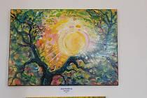 Vodňany - Obrazy výstavy Barvy srdce malovalo šest autorů čtyř generací rodiny Srdce.
