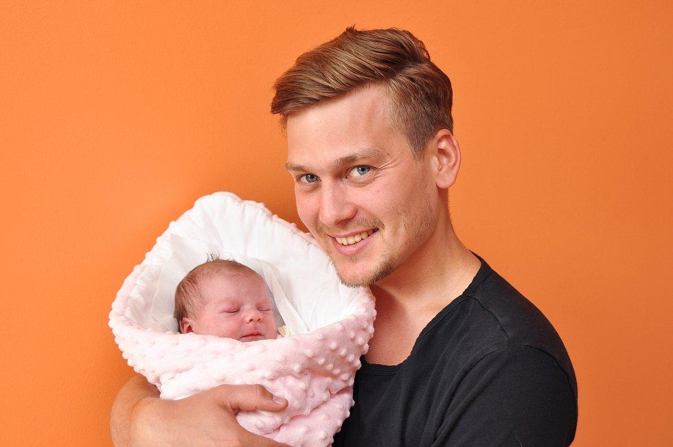 Valentýna Říhová z Blatné. Valentýnka se narodila 12. července 2019 v 8 hodin a 10 minut a její porodní váha byla 3020 gramů. Na Valentýnku se doma všichni už moc těšili.
