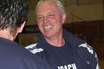 Trenér basketbalistů Strakonic Milan Janda.