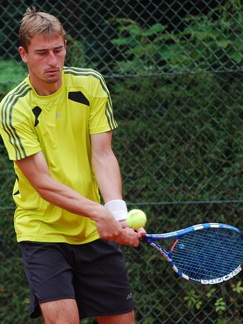 Vítěz turnaje Pavel Švec z TK Strakonice.