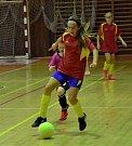 Děvčata sehrála krajský turnaj v halové kopané.