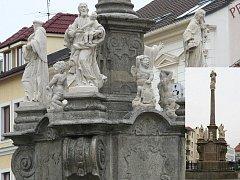 Mariánský sloup na Palackého náměstí.
