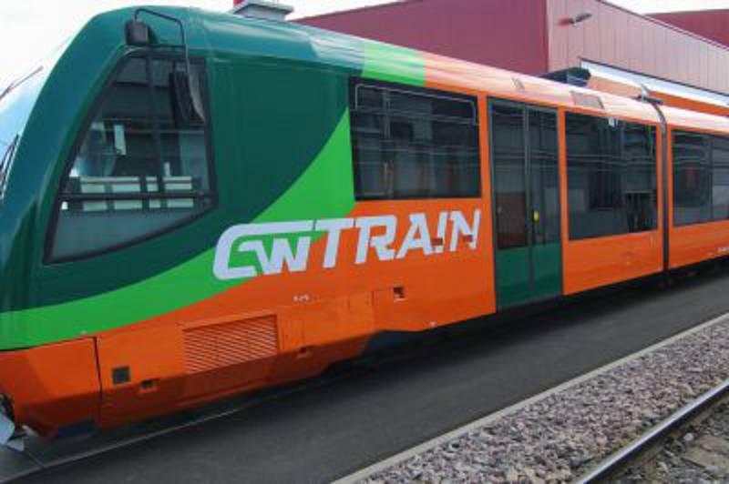 Strakonice -  Soupravy oranžovo – zelené  barvy společnosti GW Train Regio a.s.