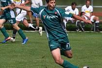 Bělčický David Říský se třemi góly v rozmezí od 82. do 87. minuty podílel na debaklu Chelčic 0:5. A za dorost dal šest gólů.