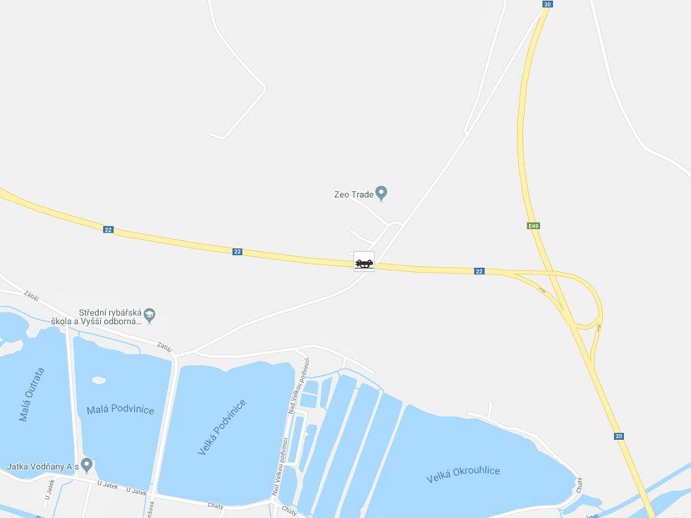 U Vodňan došlo v úterý ráno k nehodě tří vozidel.