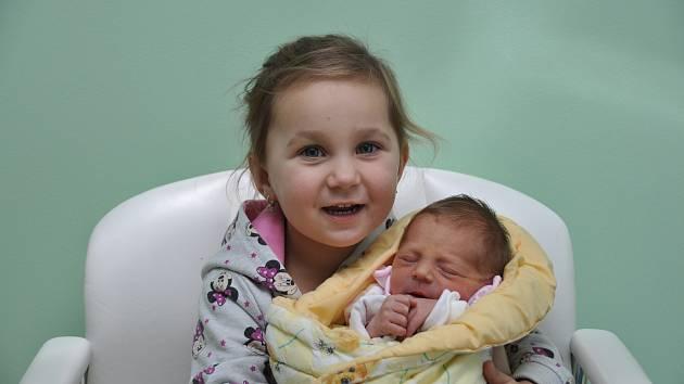Gábinka Pavelková,Dub, 21.10. 2017 v 8.24 hodin,2200 g. Malá Gábinka má sestřičku Lauru(2,5).