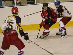 Strakoničtí hokejisté minule porazili doma Humpolec 7:4, teď je čeká derby ve Vimperku.