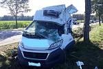 Vážná dopravní nehoda se ve středu ráno stala na silnici první třídy číslo 20 u Vodňan.