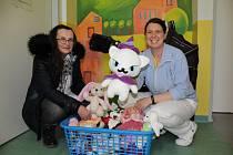Eva Grünerová (na snímku vlevo )z Vodňan přivezla poslední den roku 2019 hračky dětem do Strakonické nemocnice a Dětskhéo centra Jihočeského kraje.