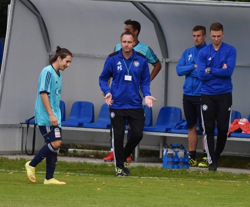 Fotbalisté Katovic vezou z Doubravky tři body. Ilustrační foto.
