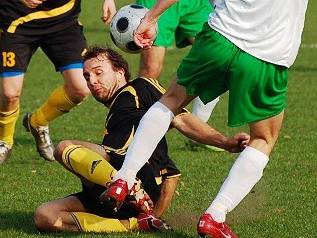 Filip Šafránek zaznamenal proti Kaplici jediný gól Vodňan, krátce nato ale viděl červenou kartu.