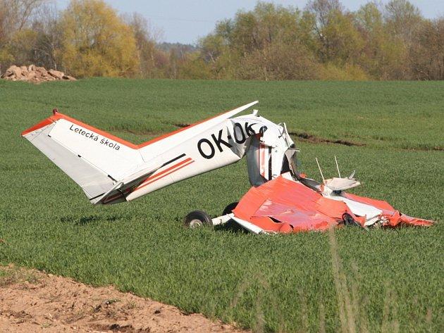 Tragédie uChrášťovic. Zemřel pilot.