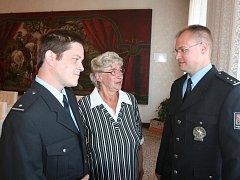 Tři hlavní aktéři příběhu ze 16. března 2011 – Jan Adámek, Eva Glusová a Ladislav Topka (zleva).