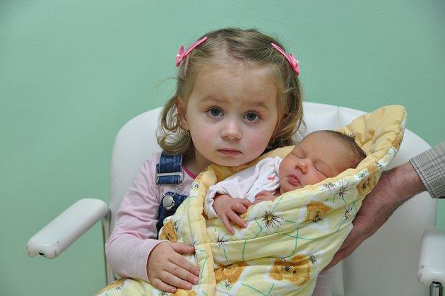 Irena Šamšulová, Černíkov, 8.11. 2017 v 8.18 hodin, 2920 g. Malá Irena má sourozence Barunku (2) a Vaška (17).