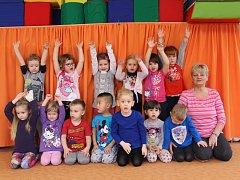 Žáci ze třídy Sluníčka z Mateřské školy Lidická ve Strakonicích.