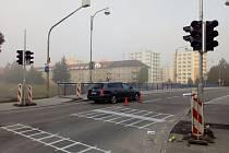 V ulici Ellerova vzniká poptávkový přechod pro chodce.