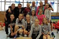 Tým mladších žákyň strakonické házené skončil na turnaji v Německu druhý.