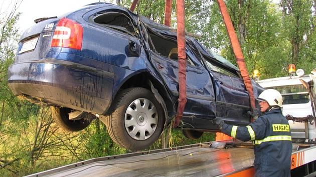 Tak vypadal vůz po čtvrteční nehodě u Cehnic