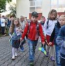 První školní den na ZŠ ve Volenicích.