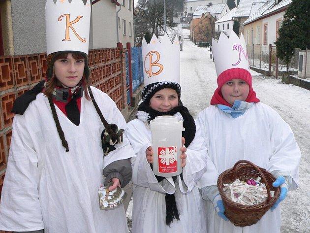Tři králové zavítali i do Malenic a okolních obcí.