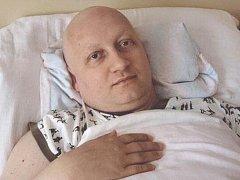 Jan Nachtigal v době chemoterapie.