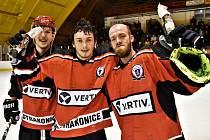Strakoničtí hokejisté porazili Vimperk na nájezdy 5:4 a jsou v semifinále KL.