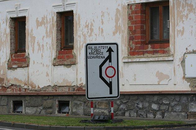 Omezení u Krejnic na Strakonicku.