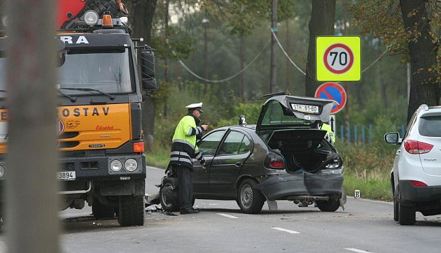 Nehoda na Volyňské ve Strakonicích.