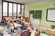 Začátek školního roku na ZŠ Povážská ve Strakonicích.