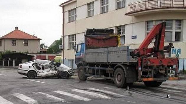 V Blatné zemřel řidič osobního vozu.