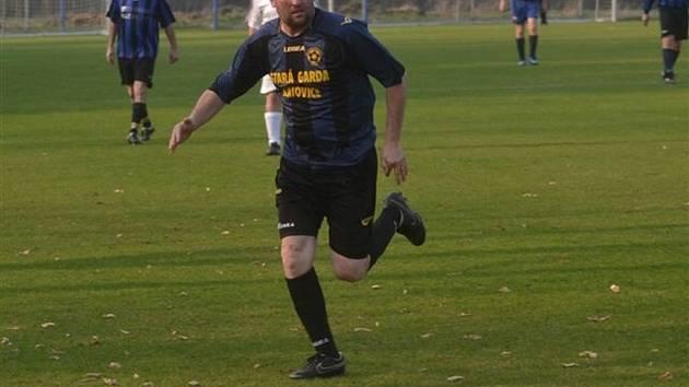 Roman Malý dal jediný gól staré gardy Katovic proti Čkyni při porážce 1:3.