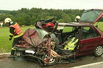 Nehoda u Přechovic.