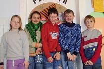 Žáci 5. třídy Základní školy Cehnice.