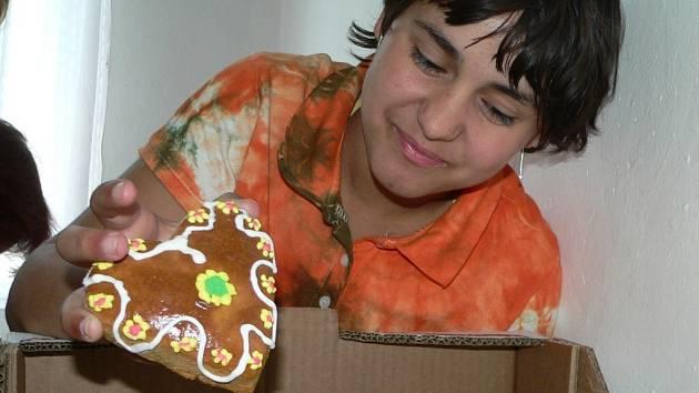 Děti z volyňského domova připravily i perníčky