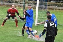 Fotbalová B třída: Bavorov - Volyně 1:2.
