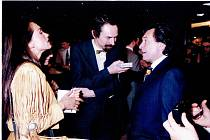 Jan Bauer při rozhovoru s Karlem Gottem.