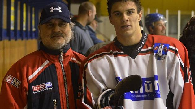 Otec Milan Bazgier a syn Michal Bazgier.