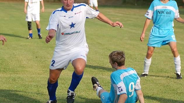 Na snímku je Luboš Hrdlička, který jako univerzál nastoupil v minulém utkání v útoku.