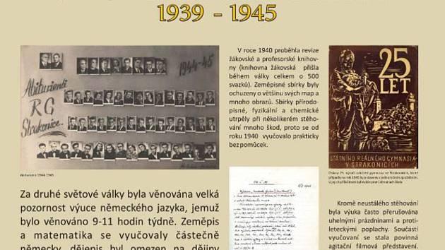 Gymnázium Strakonice za II. světové války.