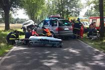 K čelnímu střetu dvou osobních vozidel došlo ve středu odpoledne nedaleko Čestic na Strakonicku.