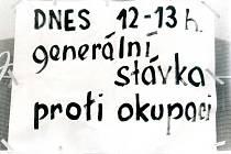 Srpen 1968 ve Strakonicích.