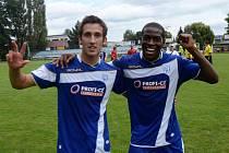 Michal Repa a Fernando Hudson svými góly zařídili ve Strakonicích v zápase s Chrudimí obrat z 0:1 na 2:1.