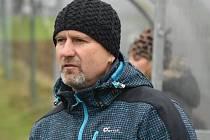 Trenér fotbalistů TJ Osek Jaroslav Voříšek.